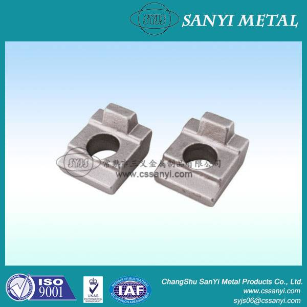 Forged rail clamp steel forgings stainless steel forgings rail clip railway projects china manufactu