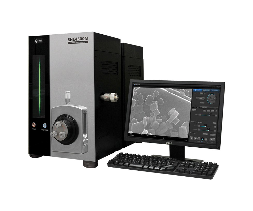 Scanning Electron Microscope: SNE-4500M from South Korea