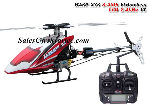 WASP X3S 3 AXIS flybarless rc helicopter 2.4GHz RTF