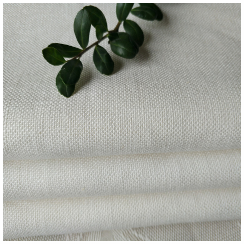Linen Cotton Blended Solid Soft Fabric 15X15/54X52 for Men Suit