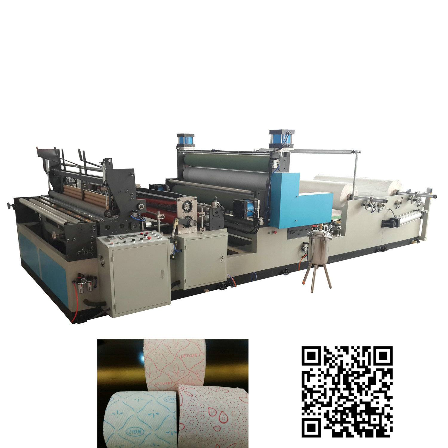 1575 automatic gluing lamination colored embossing kitchen towel machine