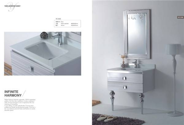 stainless steel bathroom cabinet/shower panel
