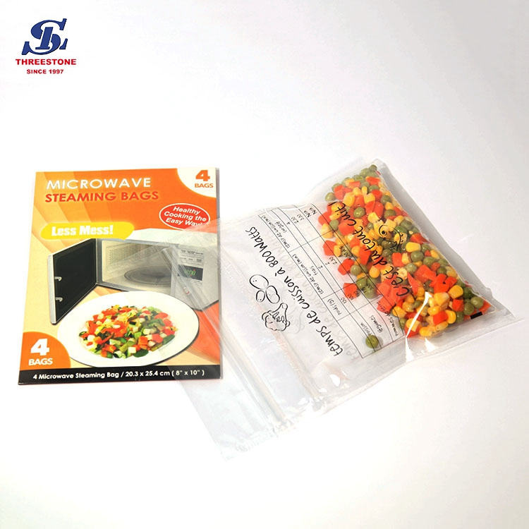 Ziplock Microwave Oven Steaming Cooking Bags for food