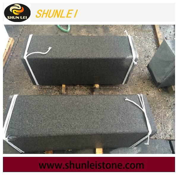 Flamed black granite, granite paving stone