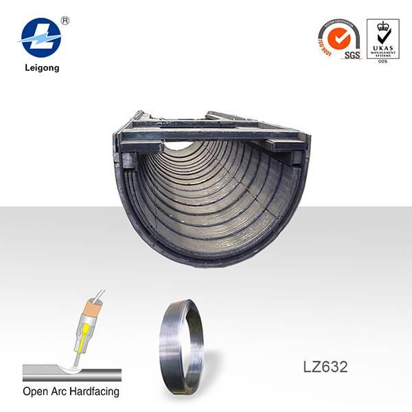 Tianjin leigong hardfacing diatribution chute Open arc weld cored wire