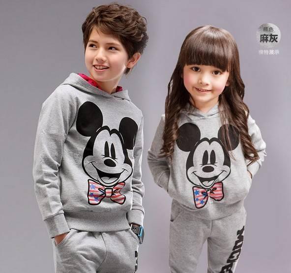 Baby Girls boys Autumn Infant Hooded Pant set sportwear kids clothing
