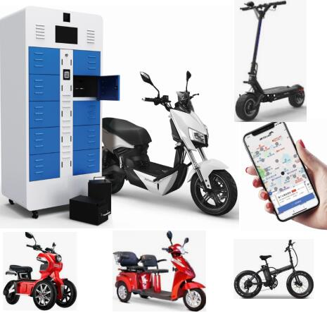 Shared Scooter Vehicle Rental Lithium Battery Intelligent Charging Swapping