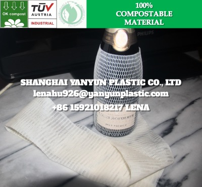 ECO Friendly Biodegradable Glass Bottle Protective Sleeve Tubular