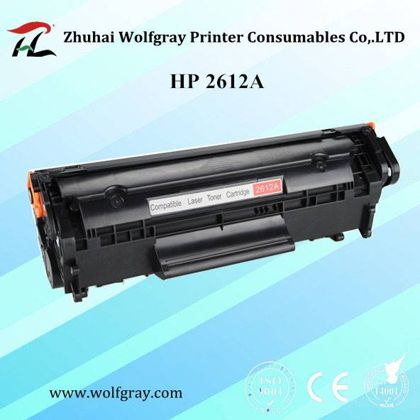 Wholesale compatible toner cartridge HP Q2612A 2612A for HP 1010/1020/1015/1012/3015