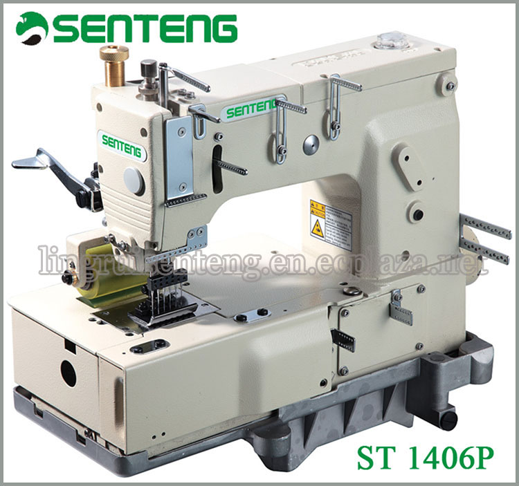 ST 1406P 6-NEEDLE DOUBLE CHAIN STITCH SEWING MACHINE