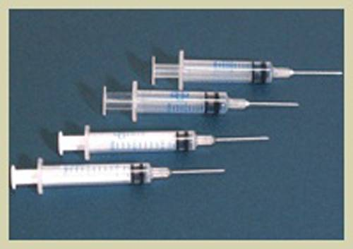 View of Disposable syringes
