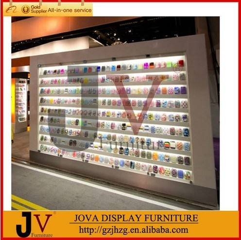 Luxury mall kiosk for cell phone showcase display design with accessory
