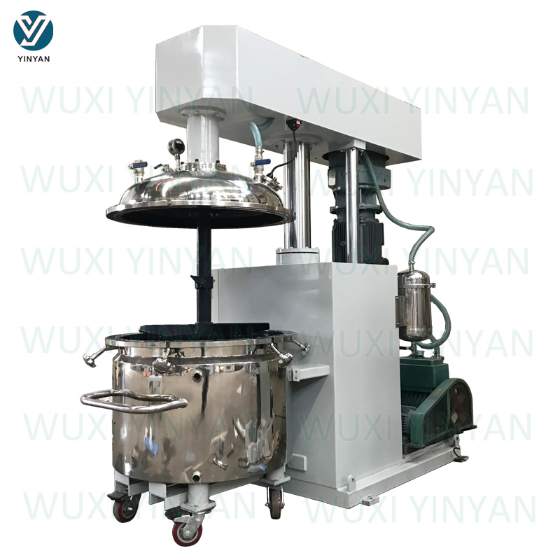 YINYAN factory selling epoxy glue making machine hydraulic lifting type vacuum mixer
