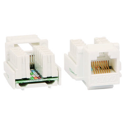 CAT5E/CAT6 Keystone Jack with Punch-down Terminal