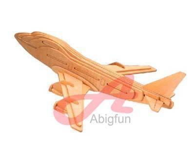 Boeing 747 wooden construction kit plane