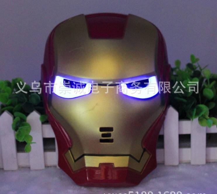 christmas toy LED MASK IRON MAN carnival festival holiday supplies party decoration luminous christm