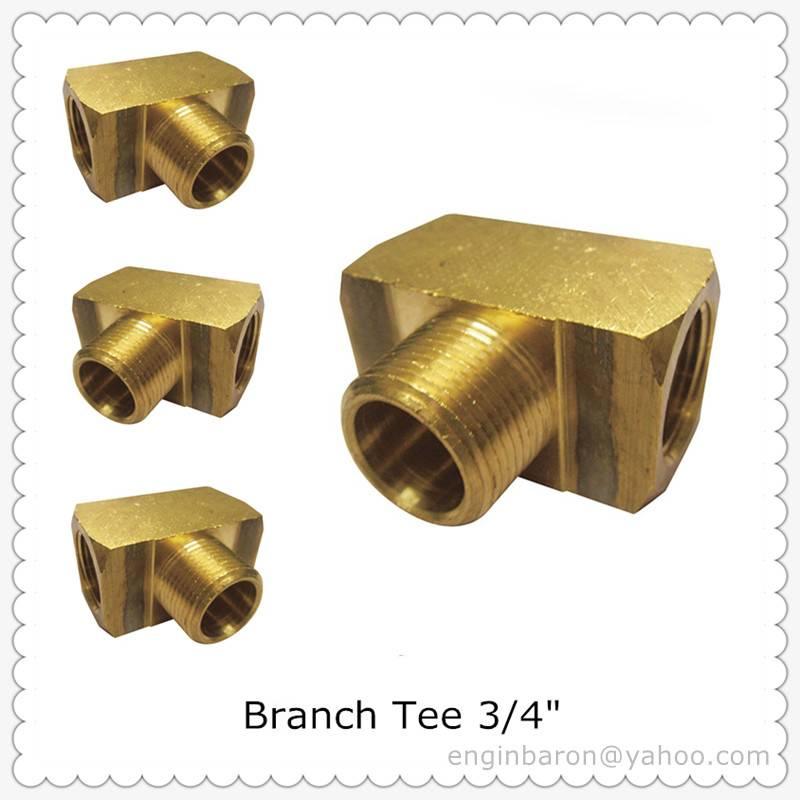 "Brass Branch Tee,3/4"",FNPT x FNPT x MNPT,1200 PSI,200pcs/lot,59KG"