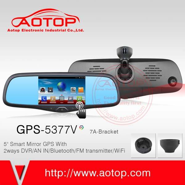 5inch Android mirror GPS with HD DVR,Bluetooth,MP4,FM, and Bracket