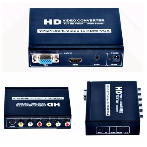 202 AV+SVIDEO+YPBPR to HDMI +VGA