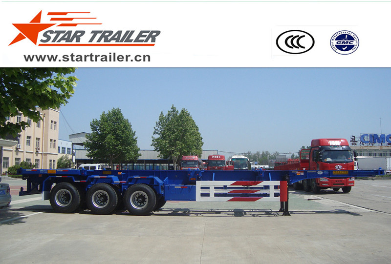 3 Axles Skeleton Container Chassis Semi-trailer