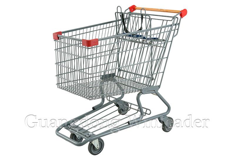 "YLD-CT150-1FB Canadian Shopping Trolley Shopping Trolley, 5""PU Wheels Shopping Trolley,Canadian Styl"