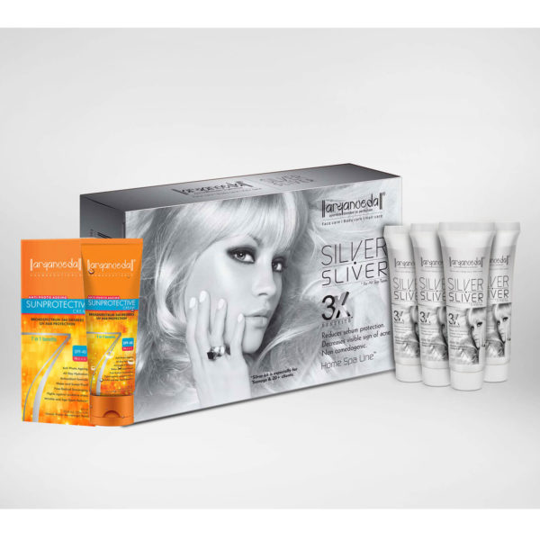 Aryanveda Silver Sliver 3X Home Spa Kit with SPF-40 combo pack