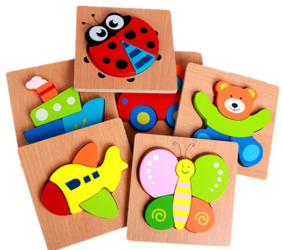Wooden Puzzle Jigsaw Early Learning Baby Preschool Educational Toys
