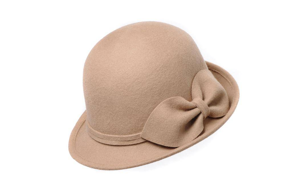 Ladies Winter Wool Felt Bucket Hat (FW004060)
