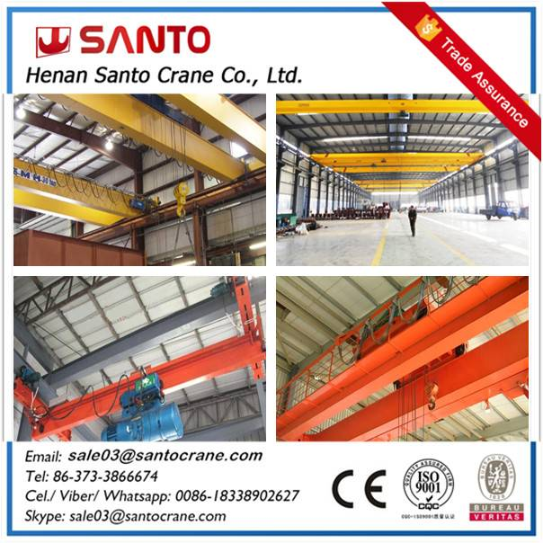 Trolley travelling eot motor driven mobile overhead crane bridge crane with hoist for sale