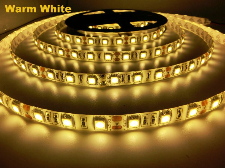 LED strip 5050 DC12V flexible light IP65 Waterproof 60LED/m 5m/Lot,RGB/Pink/Orange/Purple 5050 LED S