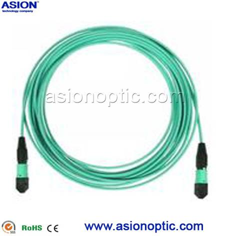 High quality MPO fiber optic patch cable with RoHS Compliant