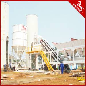 Twin Shaft Mixer Mobile Concrete Batching Plant