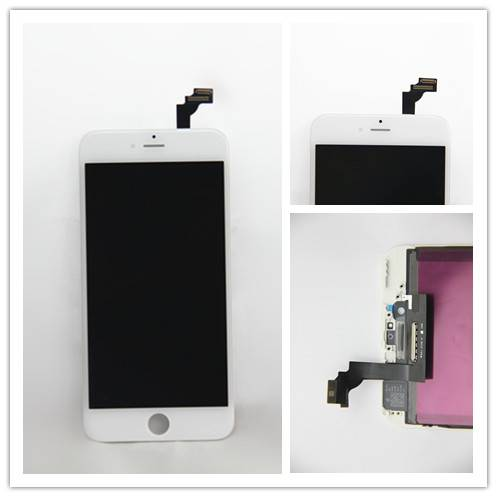 For Apple iPhone 6 Plus LCD Screen and Digitizer Assembly with Frame - Black/White