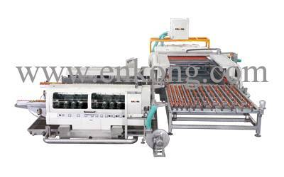 L type glass double edging line