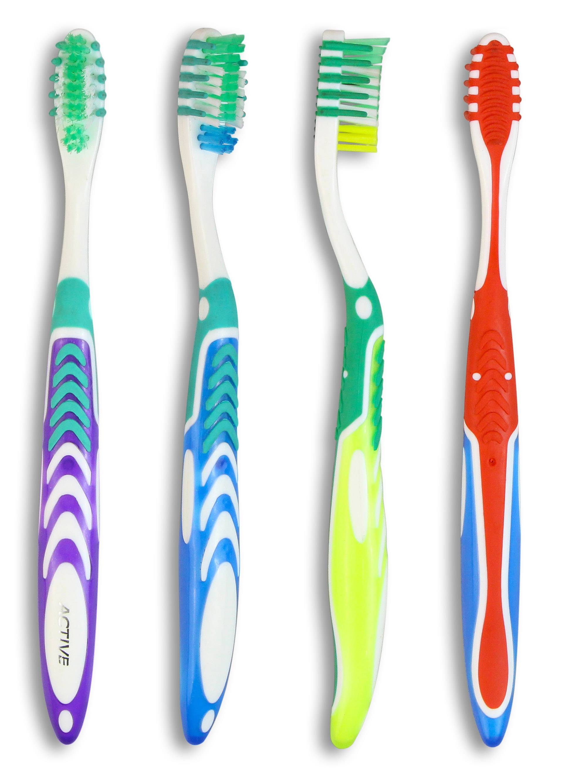 Adult Toothbrushes with Tongue Cleaner