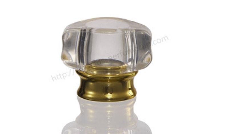 Shiny silver parfum cap