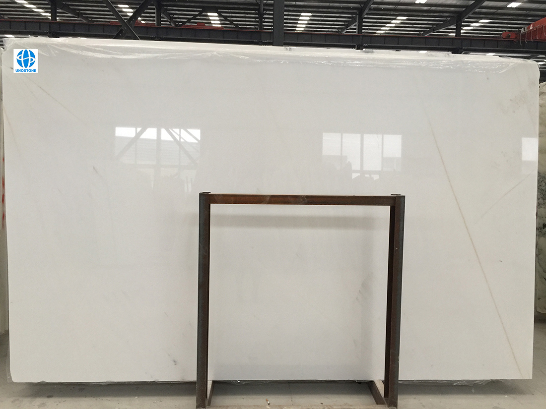 White marble slabs golden thread jade