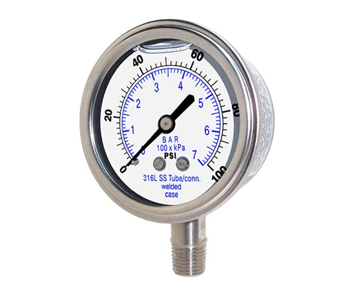 Full Stainless steel Pressure Gauge