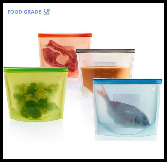 Silicone freezer Bags Food Sealing Storage bag cooking tools