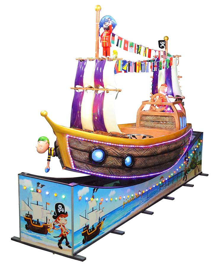 Pirate ship indoor amusement coin operated game machine