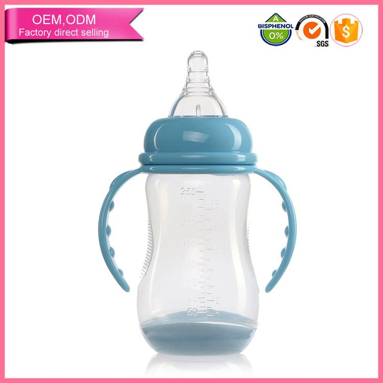 2016 new baby product non toxic pvc wide neck bottle