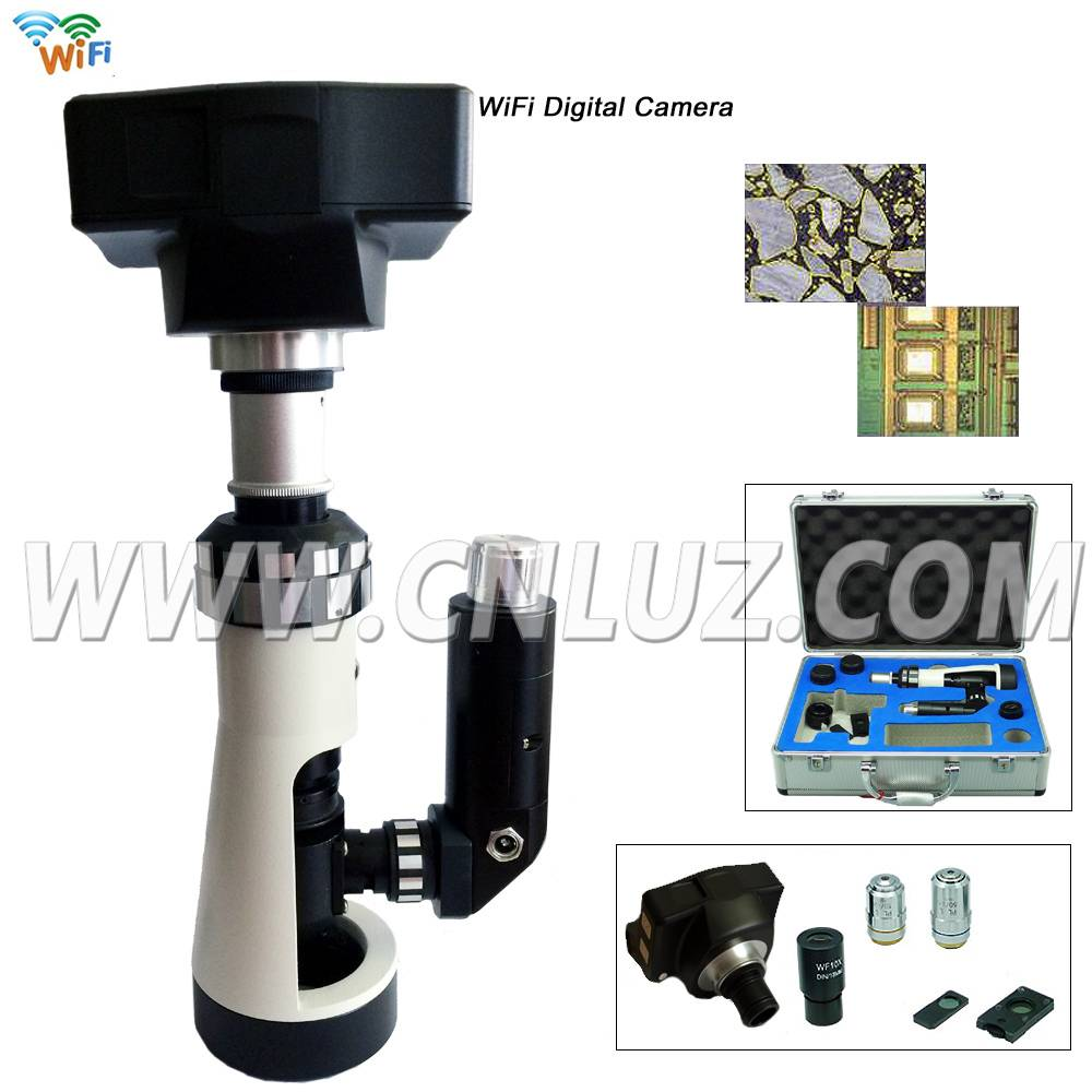 WIFI Handheld / Portable Metallurgical Microscope with Magnet Base MDM.019005