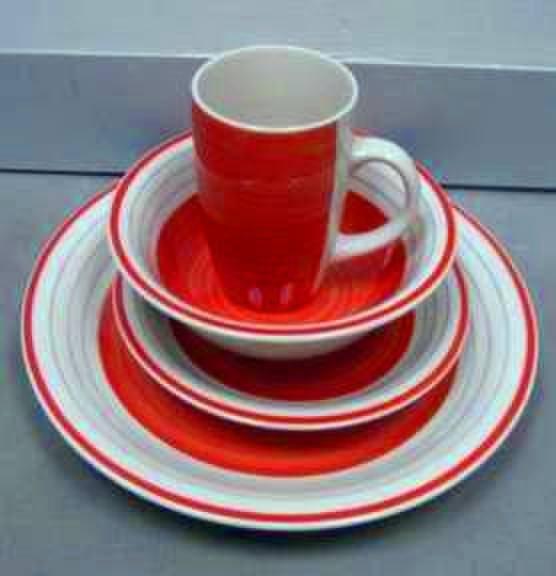 Line Design Stoneware Dinnerware Set