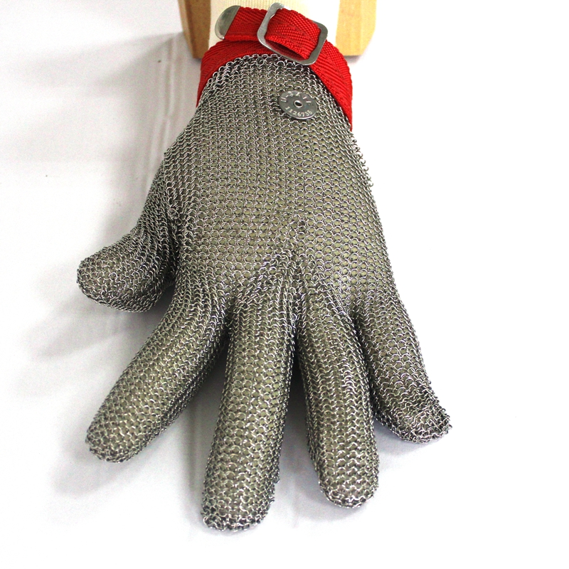 Finger safe Butcher Safety Cut Proof Stab Resistant Stainless Steel Metal Mesh Wire Gloves