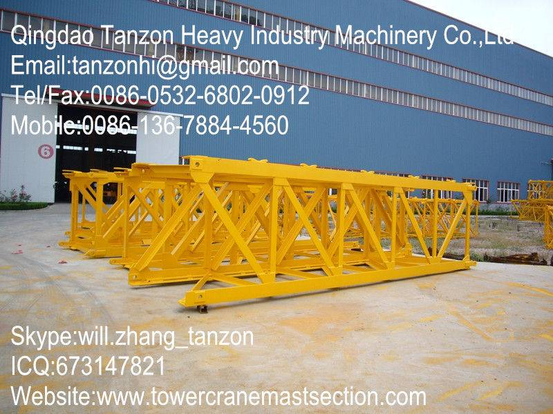 Plate Tower Crane Sections Spare Parts / Tower Crane Mast Section L68B1
