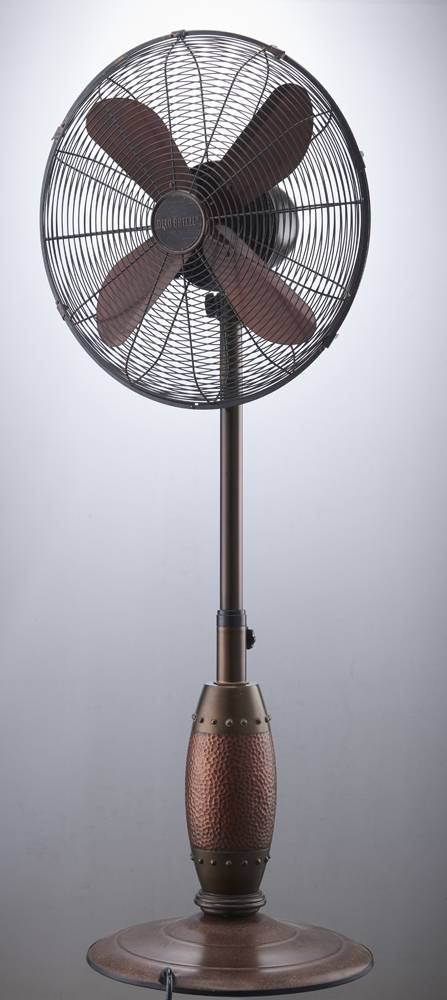Outdoor Standing Fan Antique Metal Stand Fans