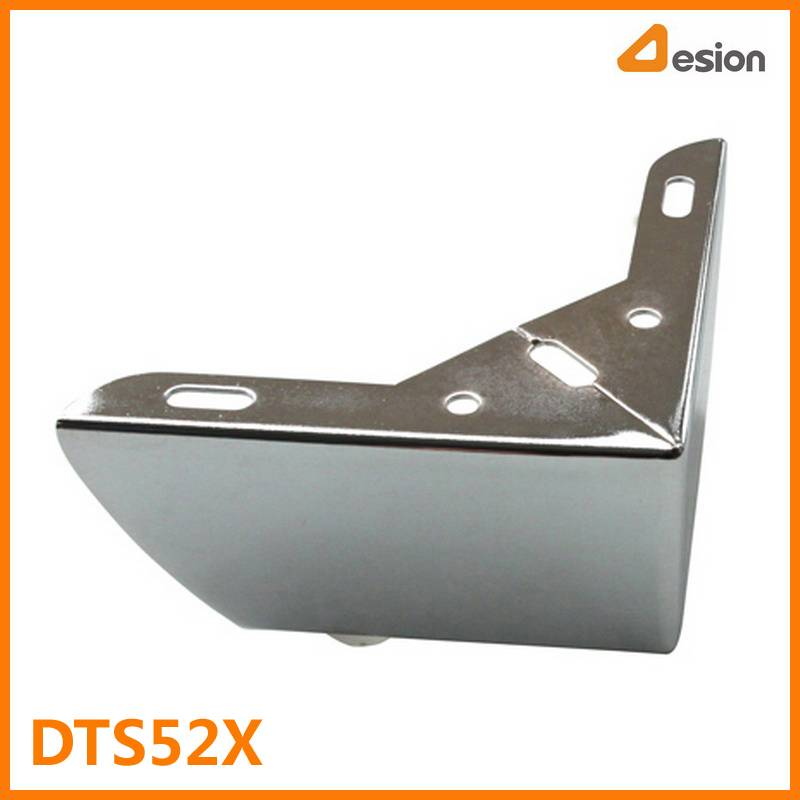 Steel Angle Sofa Leg in Chrome Finish