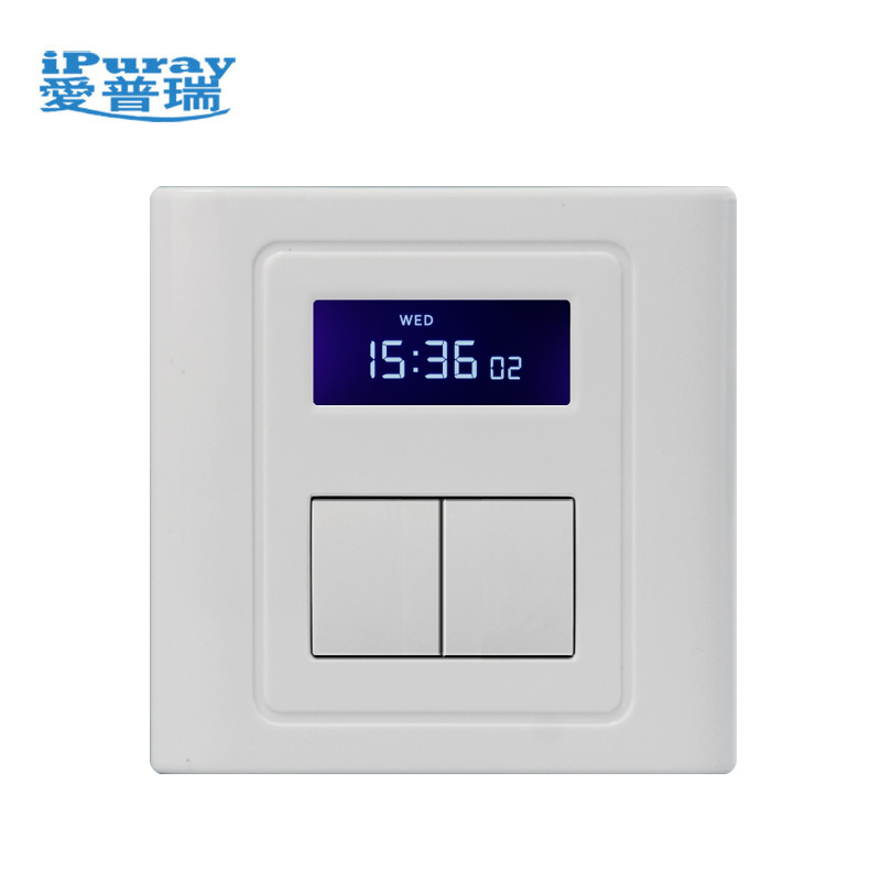 Digital Wall Timer Switch with Settings for 2 Loads