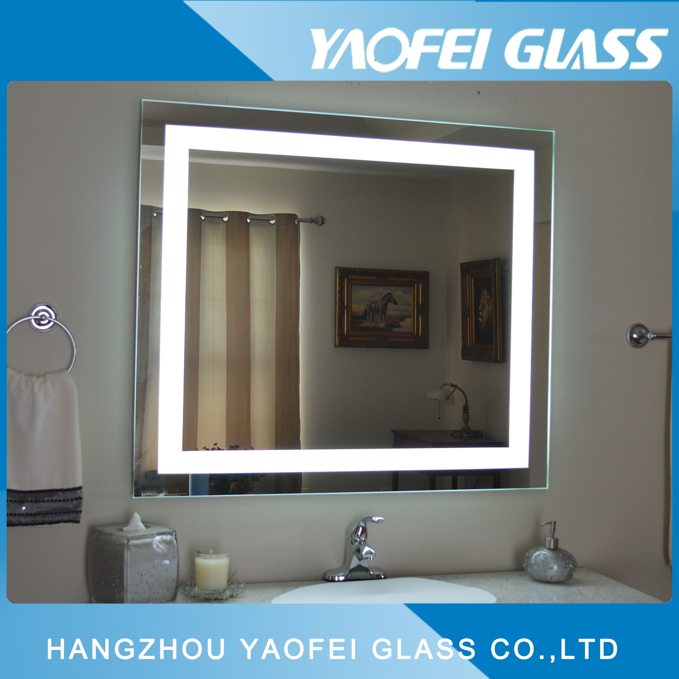 Modern Bathroom LED Mirror with Fogless