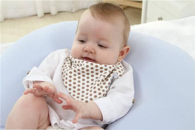 100% LAT cotton jersey knitted baby bib baby 100% cotton jersey knitted baby triangle bis wholesale